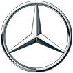Logo des Generalsponsors Mercedes