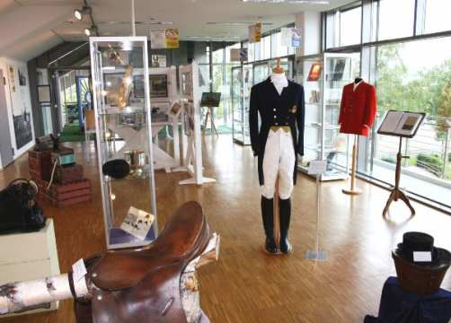 You can find lots of personal belongings of world-famous equestrians in the museum – for e.g. the riding boots of Hans Günter Winkler and also this dressage outfit of Josef Neckermann.