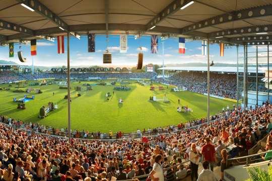 Panoramablick in das Hauptstadion. © CHIO Aachen/Andreas Steindl