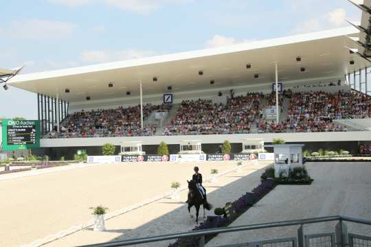 Dressage in the Deutsche Bank Stadium. © CHIO Aachen/Michael Strauch