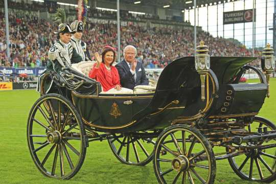 The swedish royal couple at the opening ceremony of CHIO Aachen 2016.