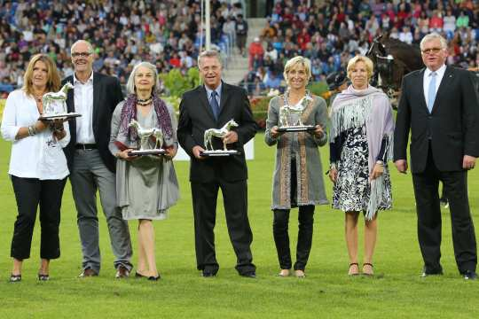The winners of the silver horse. Foto: CHIO Aachen/Michael Strauch