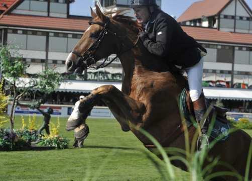 PETER CHARLES GBR riding MURKAS NEVADA