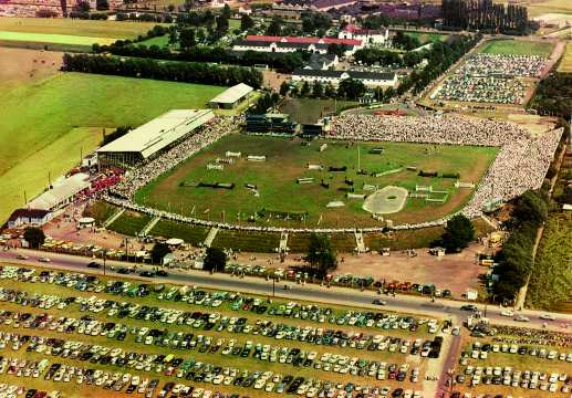 An aerial photo of the showgrounds in the 1960s. (Photo: CHIO Aachen archive).