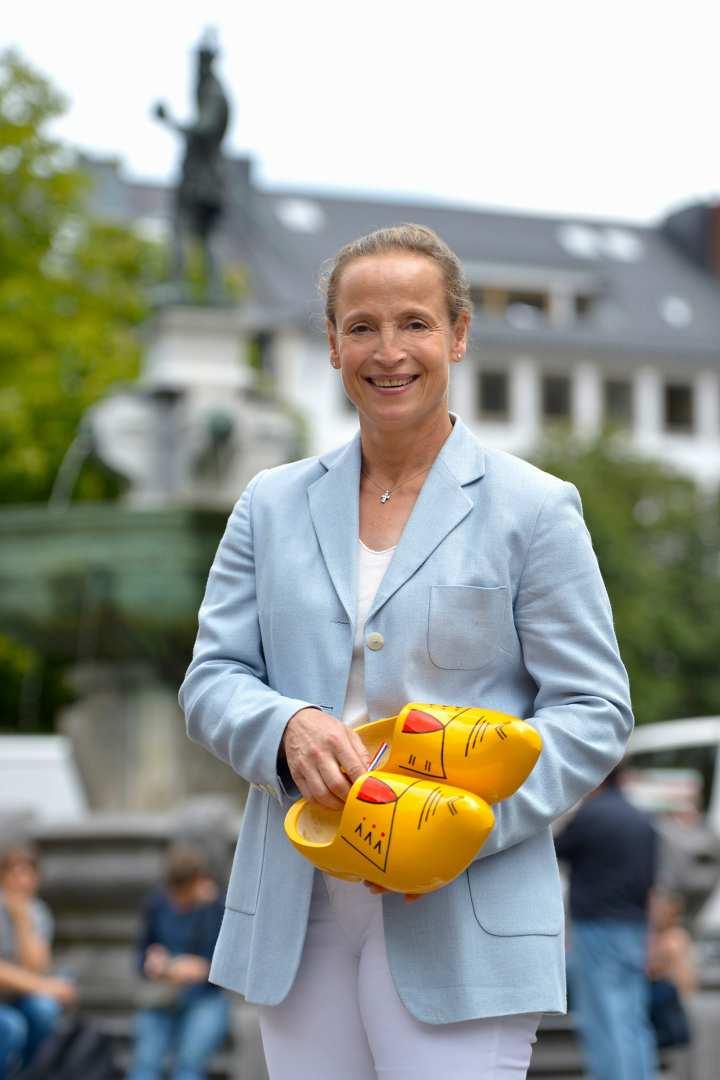 Isabell Werth am Rande der  Pressekonferenz vor dem CHIO Aachen. Foto: CHIO Aachen/ Holger Schupp