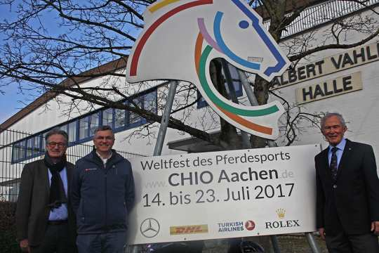 Looking forward to CHIO Aachen 2017: Frank Kemperman, Otto Becker and Carl Meulenbergh.