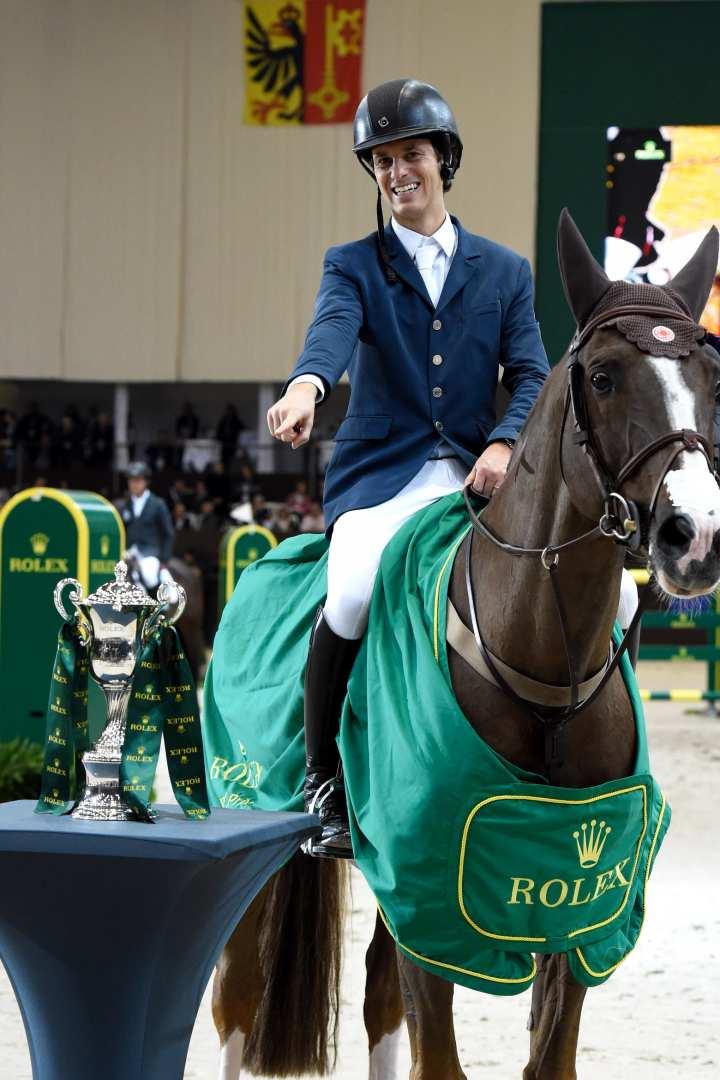 "Pedro Veniss und ""Quabri de l'Isle"", Gewinner des ""Rolex Grand Prix"" beim CHI Genf 2016."