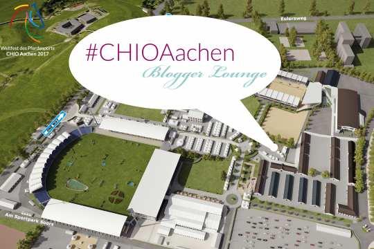 Auf der Piazza Lavazza direkt neben dem Trainingsplatz der Dressur liegt die CHIO Aachen Blogger Lounge.