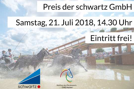 """Prize of the schwartz GmbH"" on July 21st, admission to the Marathon is free of charge."